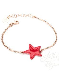 Bracciale in argento con stella smaltata