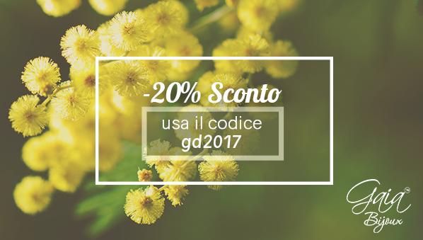 promozione 20% sconto festa della donna 2017
