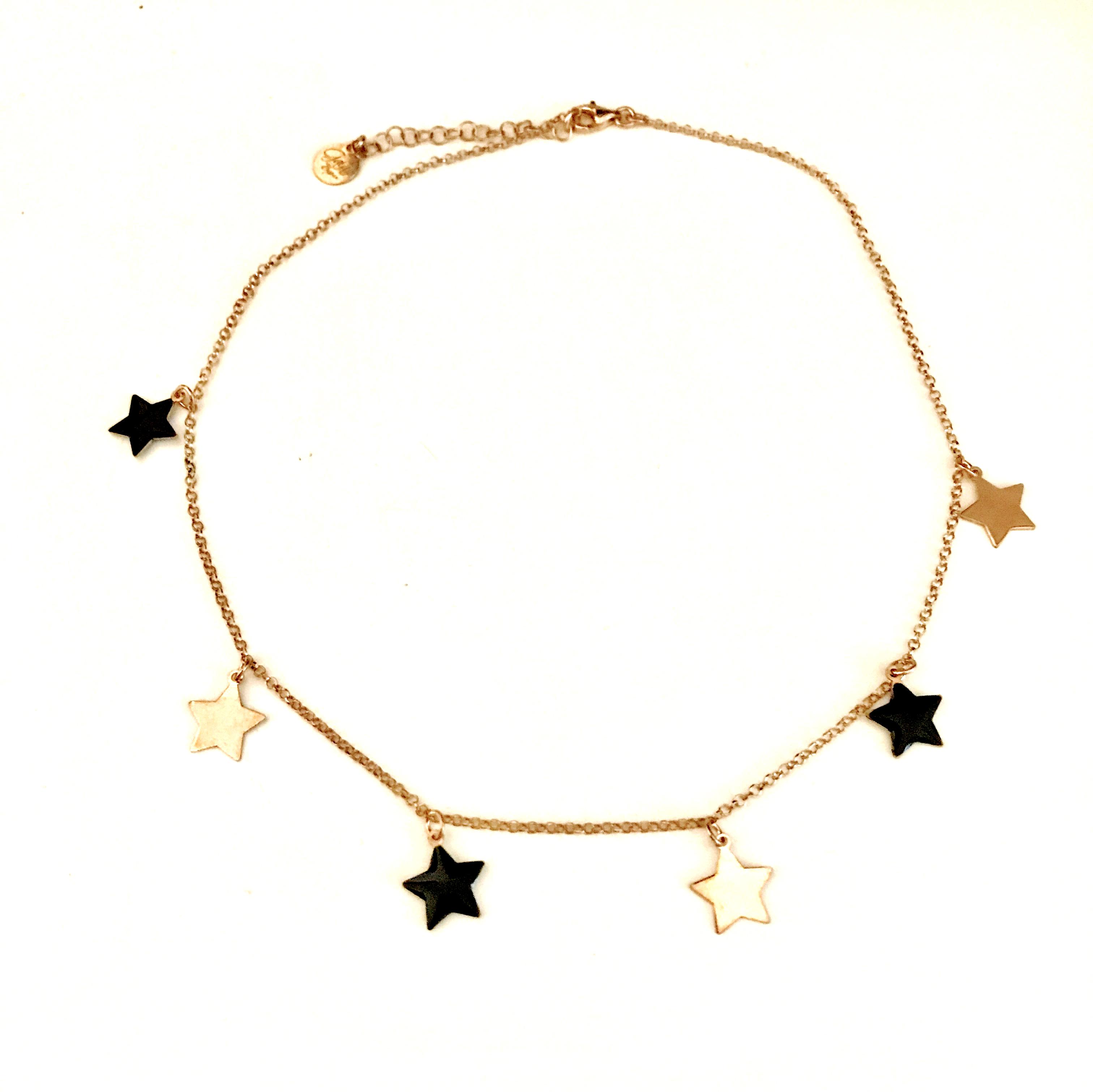 migliore a buon mercato 0d952 d9308 Collana girocollo stelle pendenti